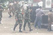 Di Tengah Kerumunan Massa Unras Danrem 063/SGJ Beri Himbauan Untuk Tetap Laksanakan Protkes