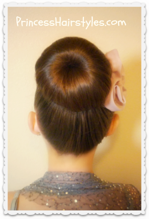 dance hairstyles donut bun sock