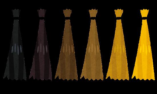 髪の毛の束のイラスト