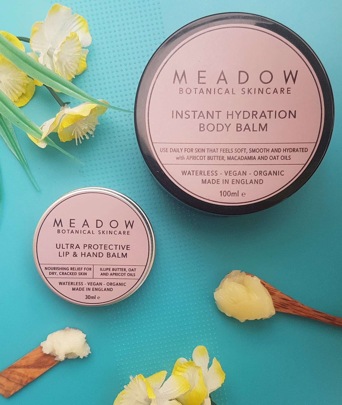 Meadow Skincare Review - Ultra Protecting lip & hand balm, Instant Hydration Body Balm