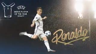 Ronaldo Pemain Terbaik Eropa 2017