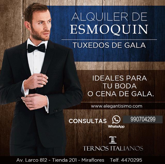 cd572210b0 Alquiler de Esmoquin para Novios en Lima - Elegantísimo