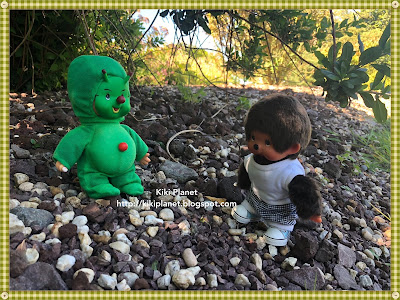kiki monchhichi extraterrestre, navette spatiale, ovni, jardins suspendus, maison futura, le havre