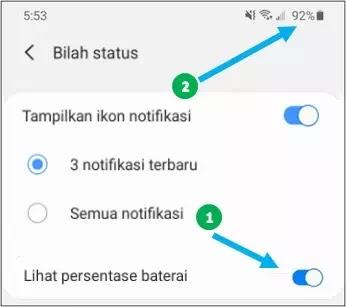 Cara Menampilkan Persentase Baterai Samsung Galaxy S20-1
