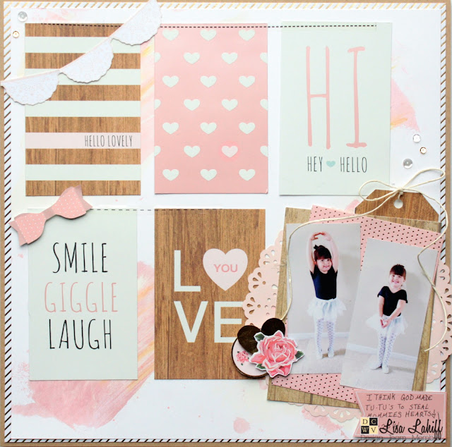 Scrapbooking with Lisa