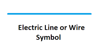 electric wire or line symbol