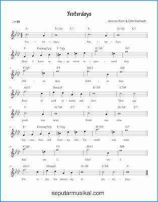 yesterdays lagu jazz standar