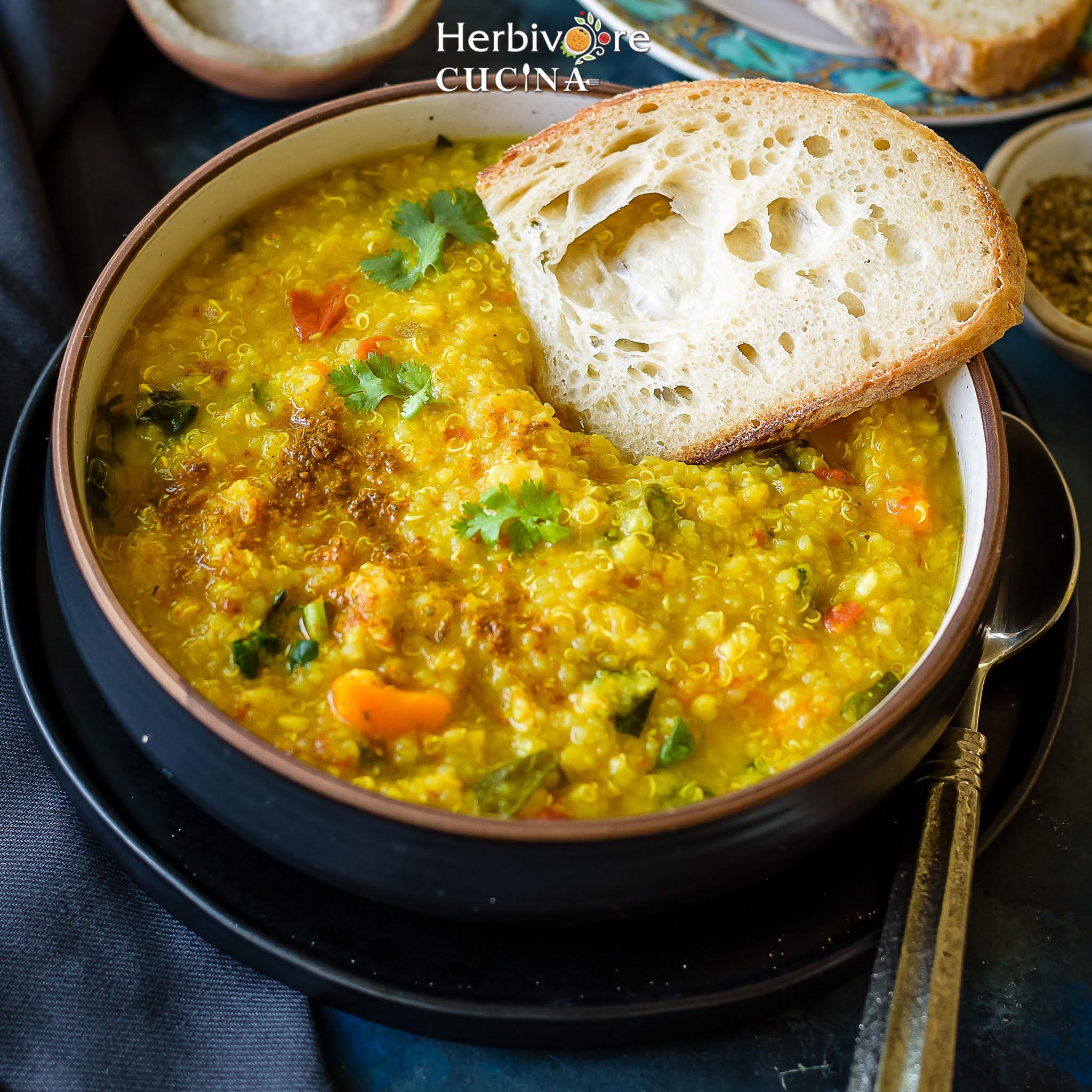 Instant Pot Quinoa Red Lentil Soup