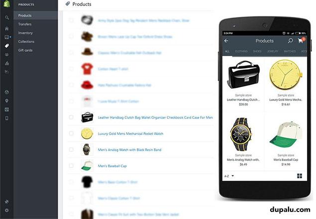 Controlar la tienda online desde el móvil.