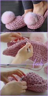 https://fabartdiy.org/crochet-t-shirt-yarn-house-slipper-free-pattern/