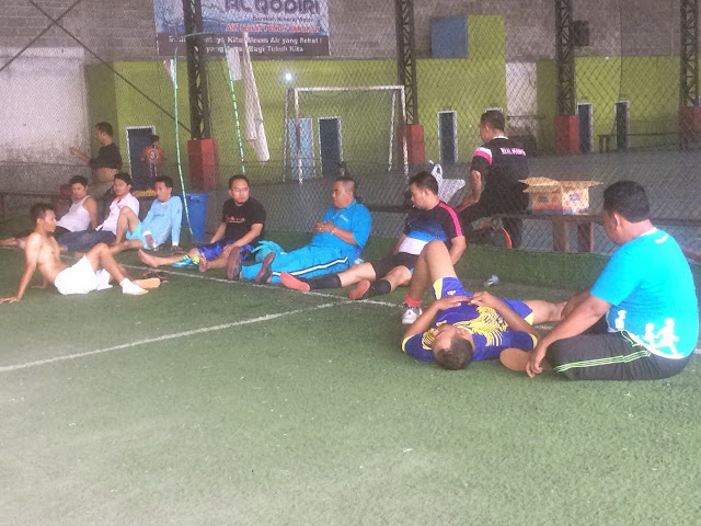 Rangkaian kegiatan koordinasi kali ini ditutup dengan pertandingan Futsal