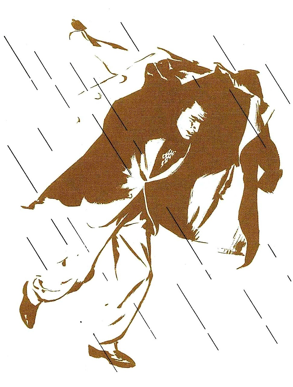 Al Parker illustration, caught in the rain