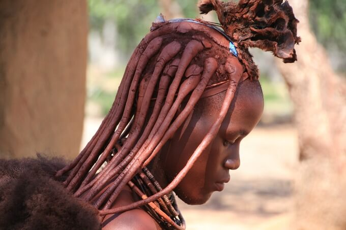 Red Clay Skin and Hair in Himba