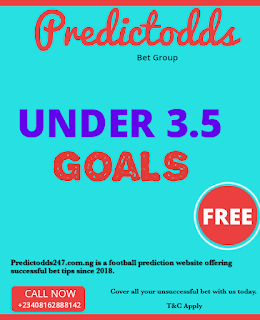 Predictodds - Under 3.5 Goals Prediction