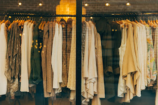 Picture of clothes hanging on a rack