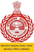 WSCBCD Haryana Clerk Syllabus