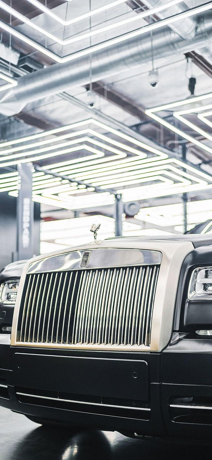 black and silver rolls royce phantom car wallpaper