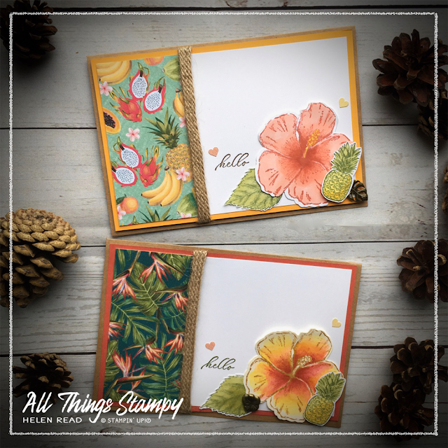 Timeless Tropical Oasis Stampin Up Helen Read Allthingsstampy Memories and More