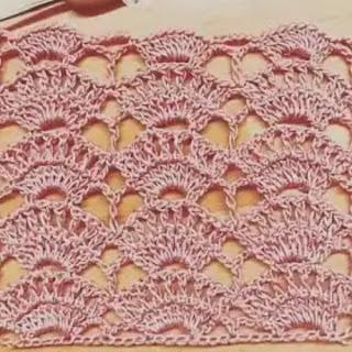 Punto Abanicos a Crochet