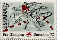 PRE-ÓLÍMPICA BARCELONA 92. EQUITACIÓN