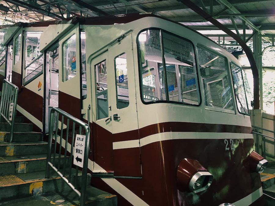 Cable car to Koyasan