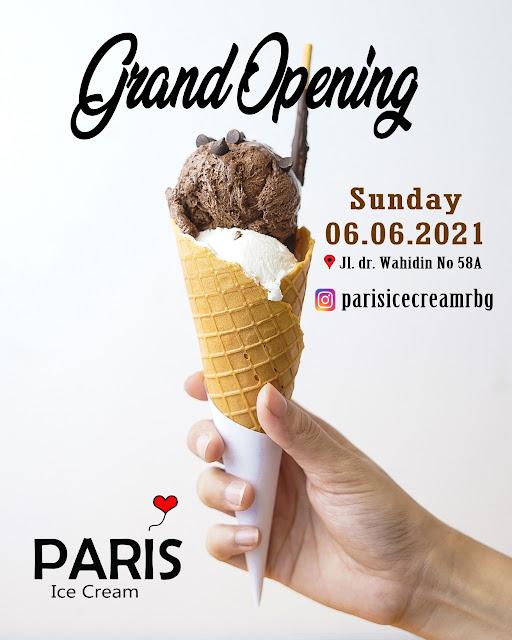 Promo Menarik Grand Opening Paris Ice Cream Rembang 06.06.2021