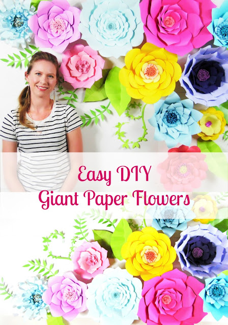 Giant paper flower backdrop. How to make Giant paper flowers.