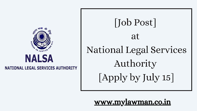 [Job Post] at National Legal Services Authority [Apply by July 15]