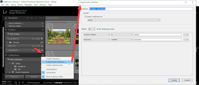 create smart collection in lightroom classic