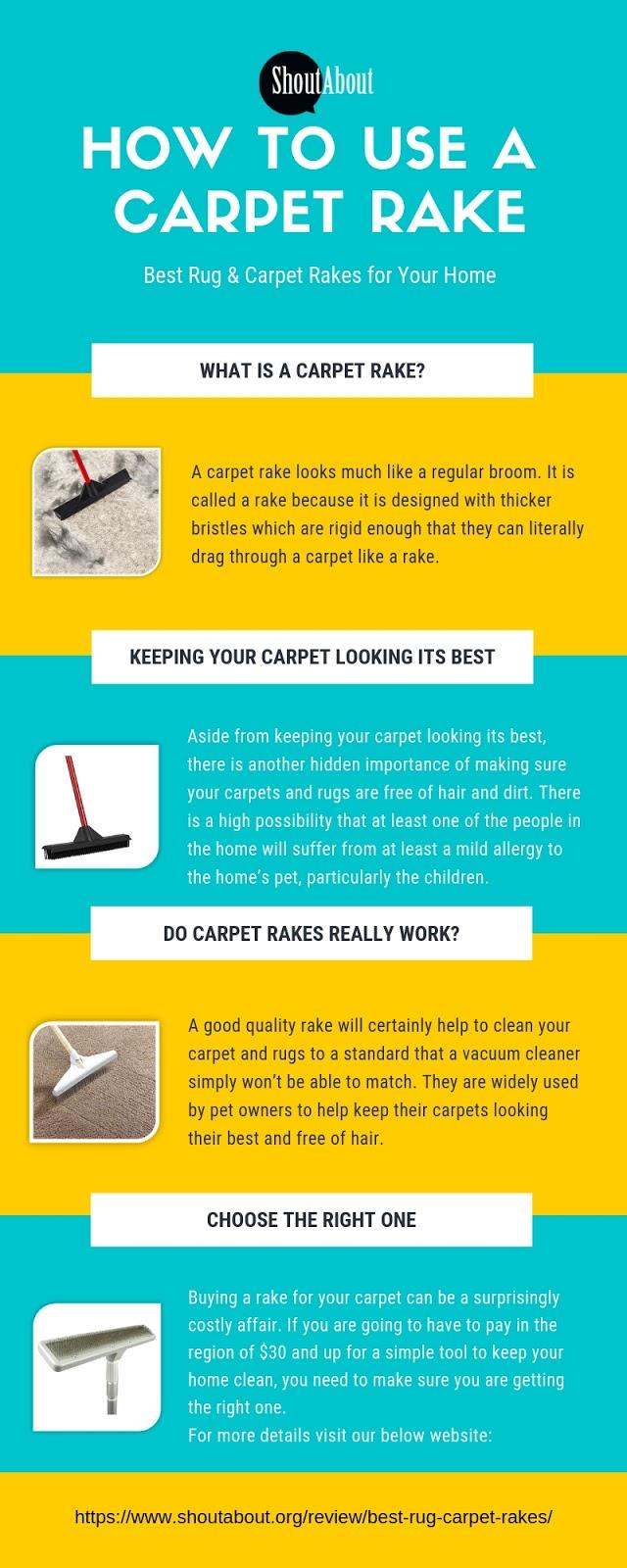 How To Use A Carpet Rake