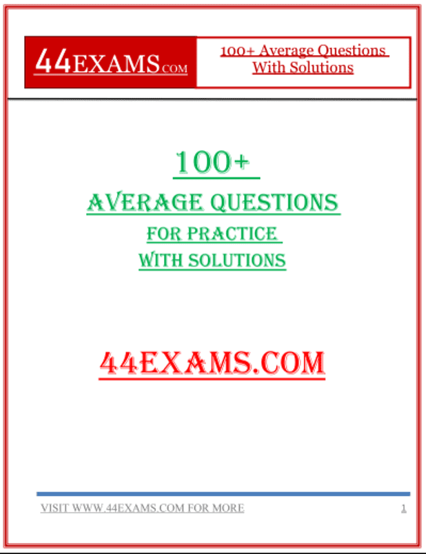 100+-Average-Questions-for-Practice-With-Solutions-For-All-Competitive-Exam-PDF-Book