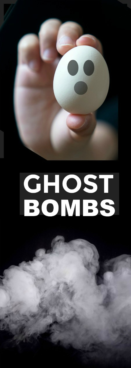 GHOST BOMBS- a super fun Halloween activity for kids! #Halloween #kids #activities