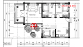 Mẫu nhà cấp 4 mái thái chữ L đẹp hiện đại đầy đủ công năng - Mã số BT1010 - Ảnh 2