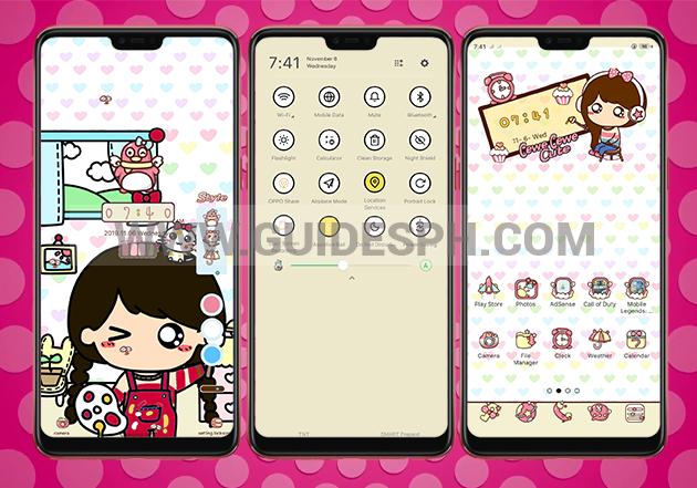 Oppo Theme: Cewe Cewe Cute Theme Free Download