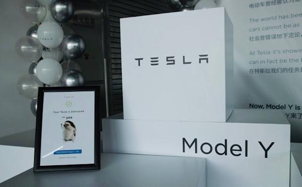 Tesla Model Y começa a ser entregue aos consumidores chineses
