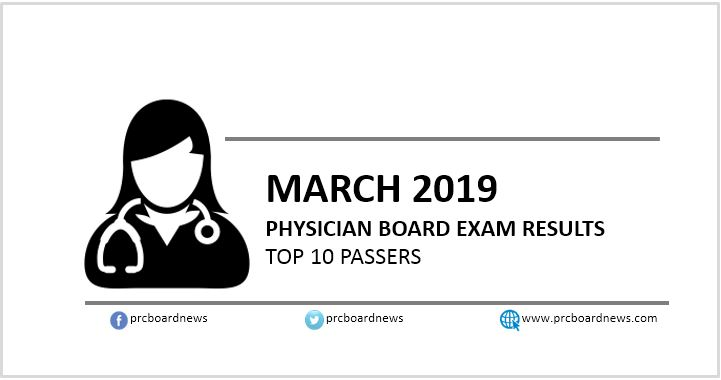 TOP 10 PASSERS: March 2019 Physician board exam PLE results
