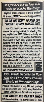 Inside Wrestling  - November 1998 -  Wrestling Book ad