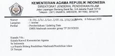 Surat Edaran Resmi Pengunnaan APLIKASI FEEDER EMIS (AFE)