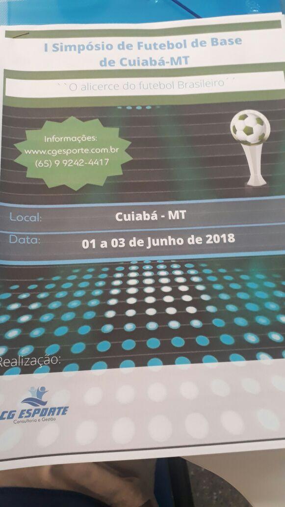 652f8fa05089b 1º Simpósio de Futebol de Base em Cuiabá - Na Cara do gol MT