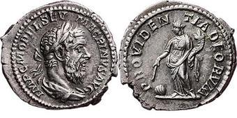 denario del emperador Macrino