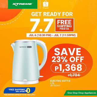 XTREMEappliances, 7.7 Shopee Free Shipping Fiesta, Stainless Electric Kettle