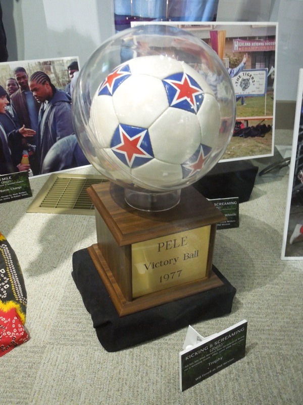 Kicking and Screaming Soccer trophy prop