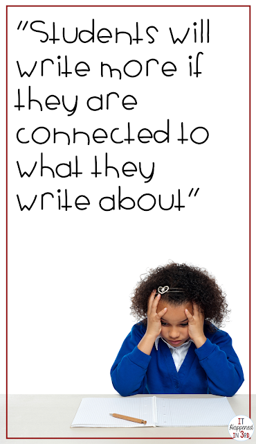 Students may be more motivated to know there will be an audience for their writing. Check out this post to get some ideas to motivate your reluctant writers!