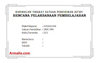 Download RPP KTSP Sosiologi Kelas XI SMA