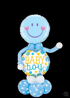 """""""Baby Boy Balloon Buddy"""" - www.Qualatex.com"""