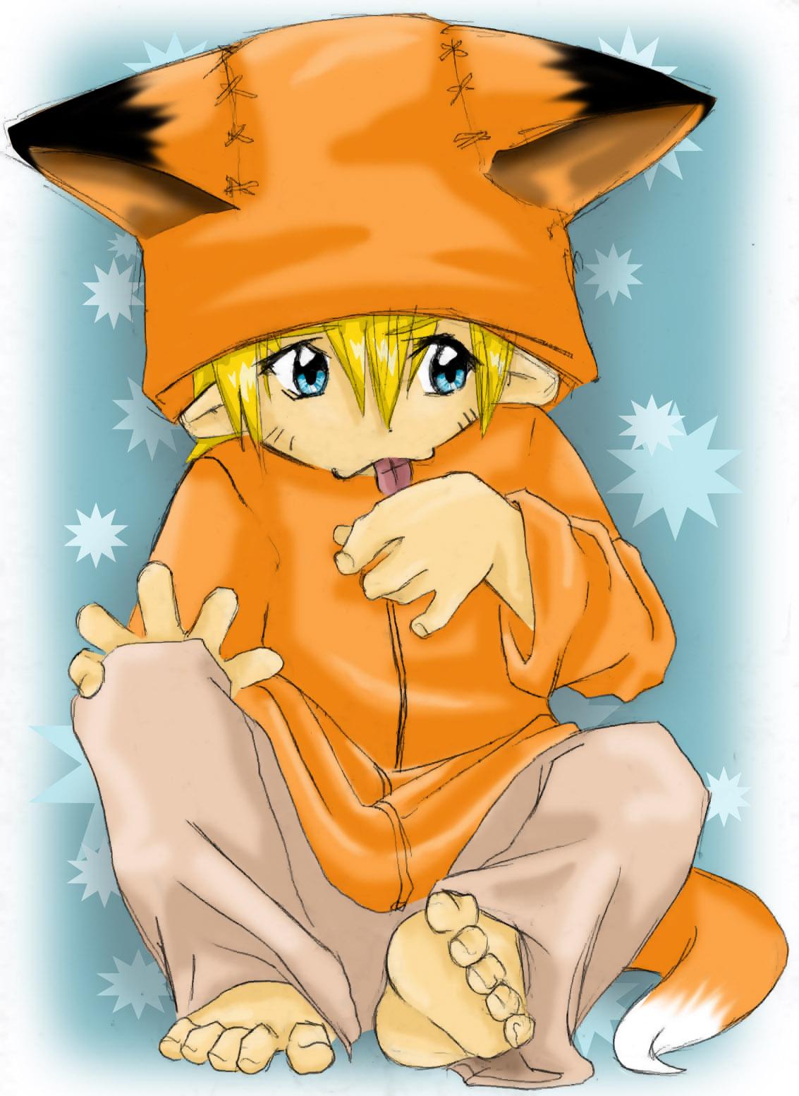 Les 64 meilleures images du tableau Kyuubi sur Pinterest ...  |Laguh Naruto Uzumaki Cute