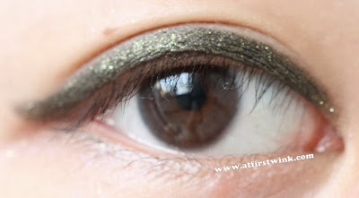 Mizon brown eyeliner in daylight