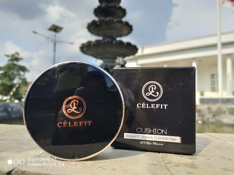 Review Celefit DesignFit Upderm Cushion Pact Shade 23