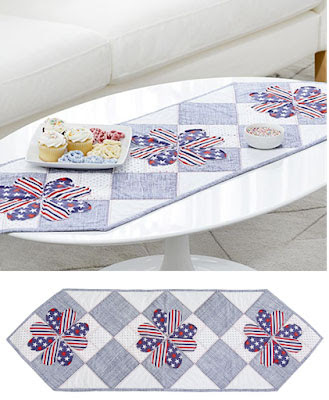 Patriotic Love table runner