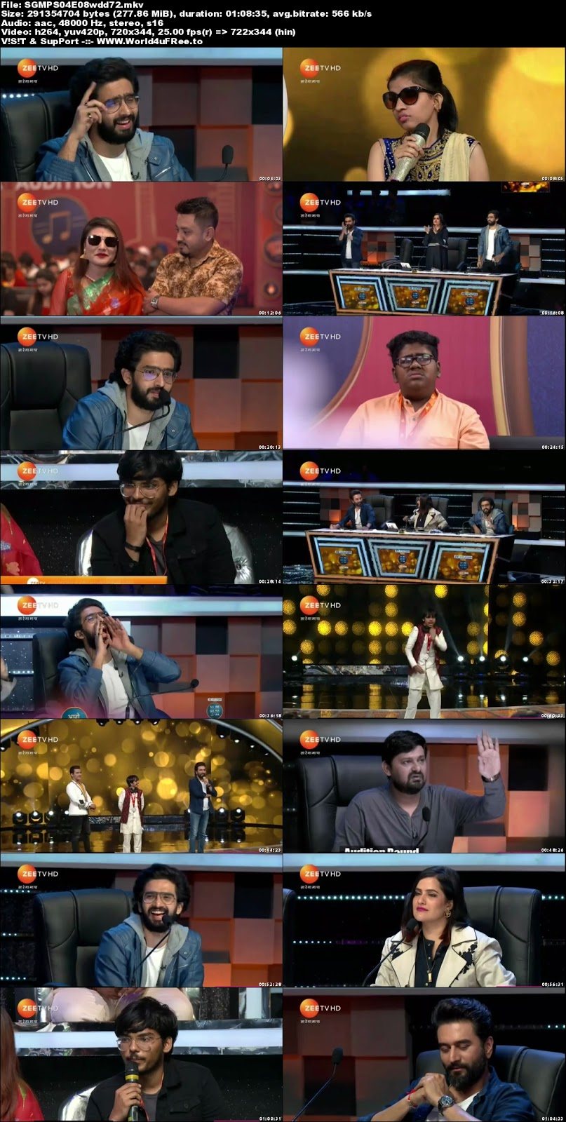 Sa Re Ga Ma Pa 2018 S04 Episode 08 720p HDTV 300Mb x264 world4ufree.fun tv show Sa Re Ga Ma Pa 2018 S04 2018 hindi Zee tv show compressed small size free download or watch online at world4ufree.fun
